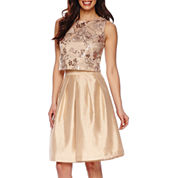 Be by Chetta B Sleeveless Sequin Top or High-Rise Silk Flare Skirt