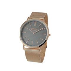 Geneva Platinum Womens Rose Goldtone Strap Watch-1513
