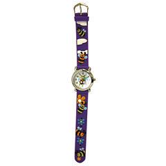 Olivia Pratt Kids Bee Purple Strap Watch-17194