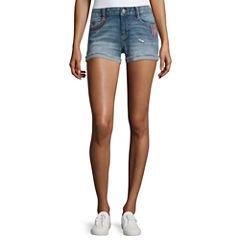 Arizona Embroidered Americana Shorts-Juniors