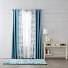 JCPenney Home Quinn, Jacobean Quinn, & Batiste Sheer Grommet-Top Curtain Panels