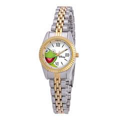 Disney Status Womens Kermit the Frog Two-Tone Metal Bracelet Watch