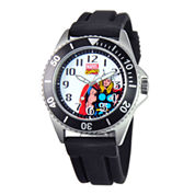 Disney Honor Mens Thor Black Silicone Strap Watch