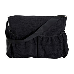 Trend Lab® Crinkle Tote Diaper Bag - Black