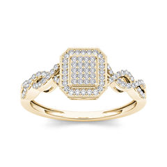 tw diamond 10k yellow gold engagement ring - Jcpenney Wedding Rings