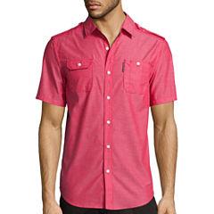 Ecko Unltd.® Short-Sleeve Solid City Woven Button-Front Shirt