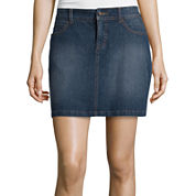 St. John's Bay® Tie Front Peasant Top or Denim Skirt