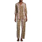 Warm Milk by Bedhead 3/4-Sleeve Notch Pants Pajama Set