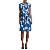 Liz Claiborne Short Sleeve Wrap Dress