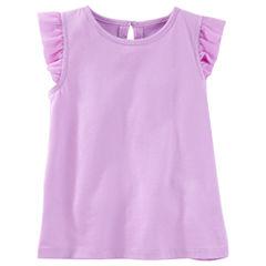 OshkoshCap Sleeve T-Shirt-Toddler Girls