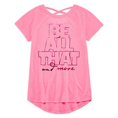Xersion Cross Back Graphic T-Shirt - Girls' 7-16 and Plus
