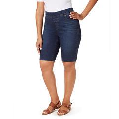 Gloria Vanderbilt Classic Fit Knit Bermuda Shorts-Plus (10.5