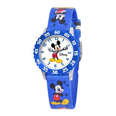 Disney Articulating Mickey Mouse Kids Blue Watch