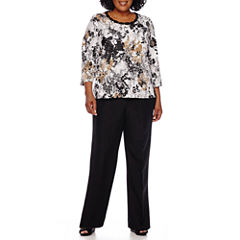 Alfred Dunner® 3/4-Sleeve Floral Print Top or Pull-On Pants - Plus