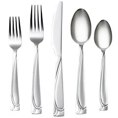 Cambridge® Mena Frost 40-pc. Flatware Set with Chrome Storage Caddy