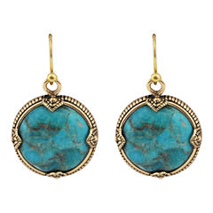 Art Smith by BARSE Turquoise Framed Round Earrings