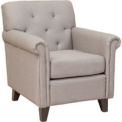 Farris Button-Tufted Club Chair