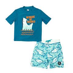 Oshkosh Shark Rash Guard Set - Preschool