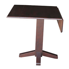 Dual Drop Leaf Square Dining Table