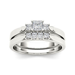 1/2 CT. T.W. Diamond 14K White Gold Bridal Set