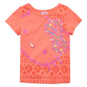 Hello Kitty® Short-Sleeve Neon Coral Tee - Toddler Girls 2t-4t