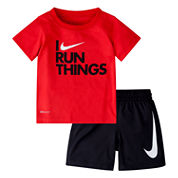 Nike Baby Boys Short Sleeve Short Set