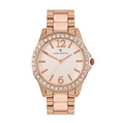 Worthington® Womens Crystal Accent Two-Tone Bracelet Watch