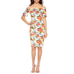 Bisou Bisou Short Sleeve Bodycon Dress