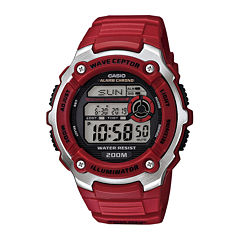 Casio® Wave Ceptor Mens Red Resin Sport Watch WV200A-4AV