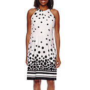Liz Claiborne® Polka Dot Fit-and-Flare Dress