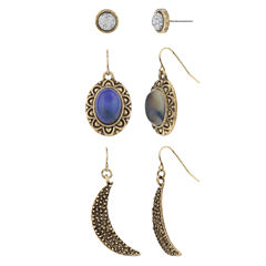 Decree 3-pc. Blue Earring Sets