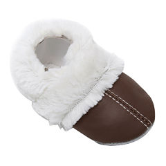 Momo Baby Fuzzy Lined Booties Unisex Crib Shoes-Baby