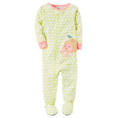 Carter's Long Sleeve One Piece Footie Pajama-Toddler Girls