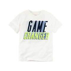 Carter's Short Sleeve Crew Neck T-Shirt-Toddler Boys