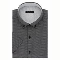 Van Heusen Slim Fit Short Sleeve Dress Shirt