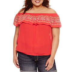 Arizona Off Shoulder Top - Juniors Plus