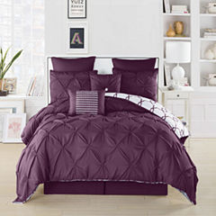 DUCK RIVER 8-pc. Esy Reversible Pintuck ComforterSet