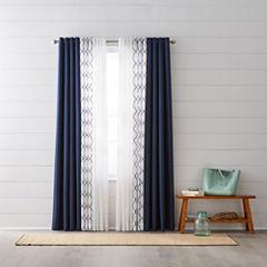 Jcpenney Home Quinn Bayview Sheer Grommet Top Curtain Panels