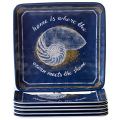 Certified International Calm Seas 6-pc. Salad Plate