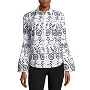 Worthington Long Sleeve Button-Front Shirt