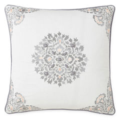 Eva Longoria Home Bethany Square Beaded Decorative Pillow