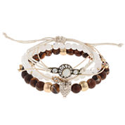 Capelli Of N.Y. Capelli Womens Clear Charm Bracelet