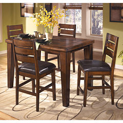 Signature Design by Ashley® Larchmont Counter Height  5-PC Rectangular Dining Set