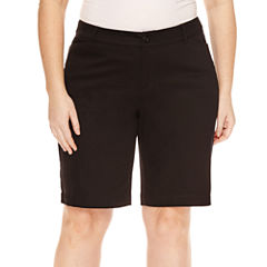 St. John's Bay® Bermuda Shorts-Plus (11.5