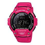 Casio® Solar Runner Womens Large Case Watch WS220C-4B