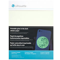 Silhouette® 2-pk. Printable Glow-In-The-Dark Adhesive Sheets
