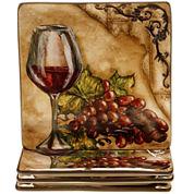 Certified International Tuscan View Set of 4 Dessert Plates