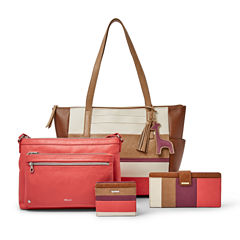 Neutral and Coral Stripe Collection