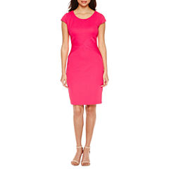 Tig Ii Short Sleeve Embellished Sheath Dress