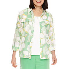 Alfred Dunner 3/4 Sleeve Blouse